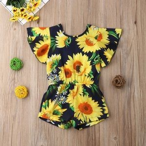 Toddler sunflower romper